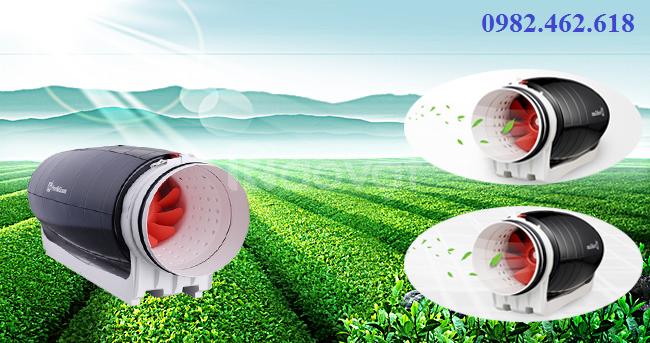 Quạt đồng trục ứng dụng cho hút mùi & cấp gió tươi siên êm