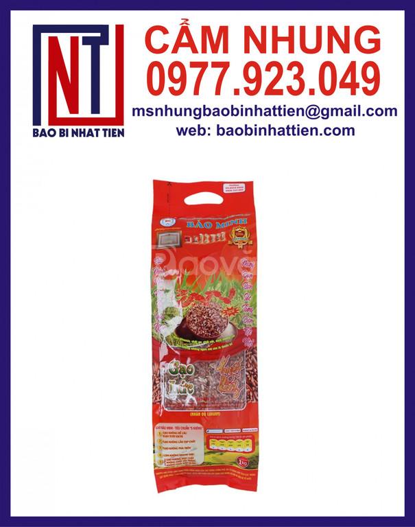 Bao bì đựng gạo PA/PE in trục ống đồng giá rẻ