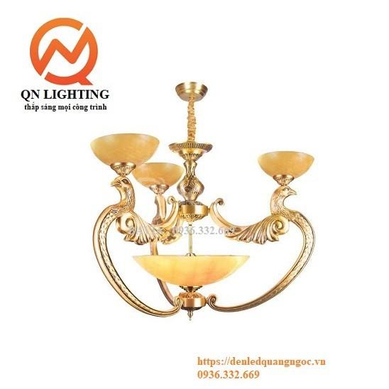 Đèn chùm đồng BAVIA mẫu Phượng Hoàng QN-HT938