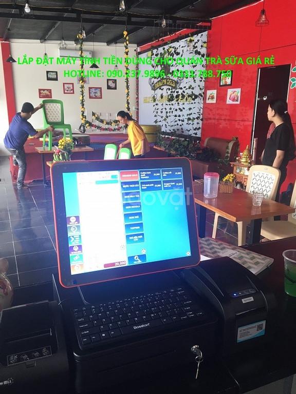 Bán máy tính tiền cảm ứng dùng cho cửa hàng thức ăn nhanh