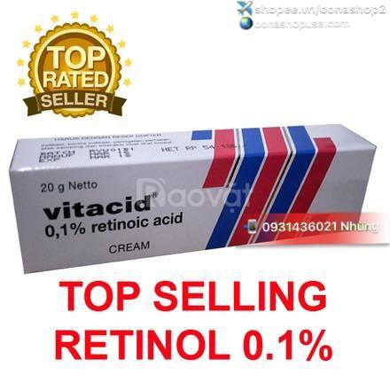 Kem Tretinoin 0.1% Kem Retin A 0.1% Kem Vitacid 0.1% (20g)