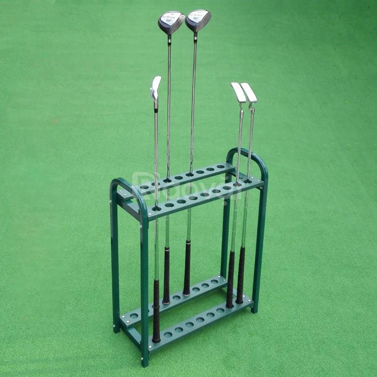 Giá để gậy golf bằng sắt màu đen