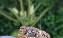 Nhẫn vàng hồng đính viên chủ kim cương thiên nhiên 5ly VVS1