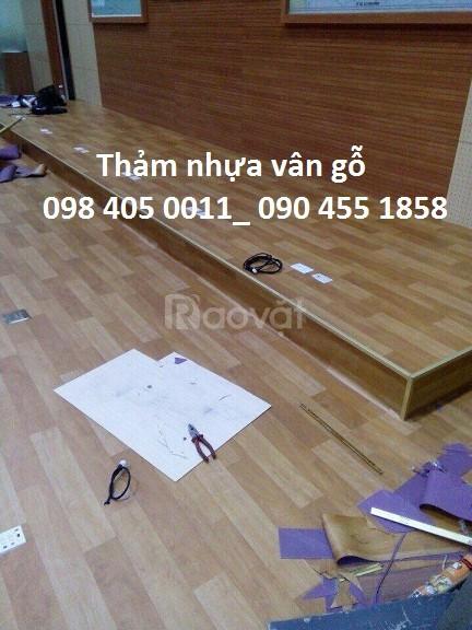 Sàn nhựa giá rẻ vân gỗ văn phòng Hà Đông