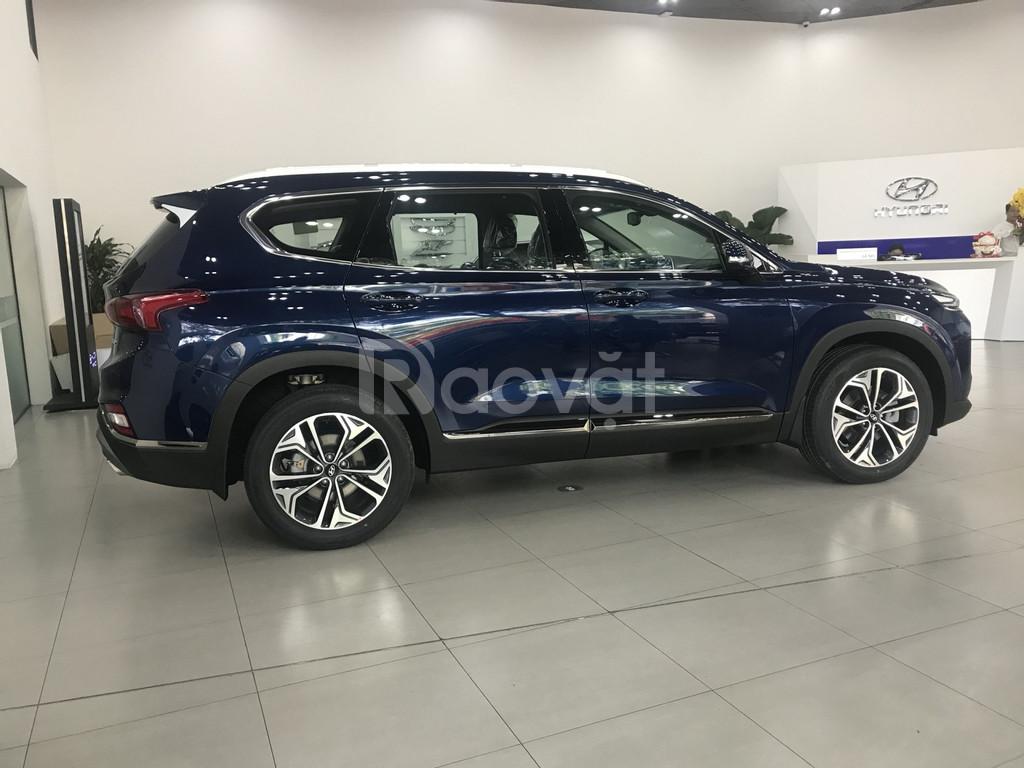 SantaFe 2019, xăng, dầu đặc biệt, màu xanh, Hyundai An Phú