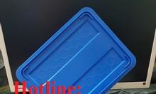 Thùng nhựa đặc có nắp cao cấp tại Hà Nội, khay nhựa B7