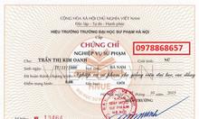 Chứng chỉ nghiệp vụ sư phạm - địa chỉ học uy tín tại HN - c.chỉ chuẩn