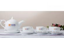 In ấm chén trà, ly tách trà gốm sứ tại Quy Nhơn – Bình Định