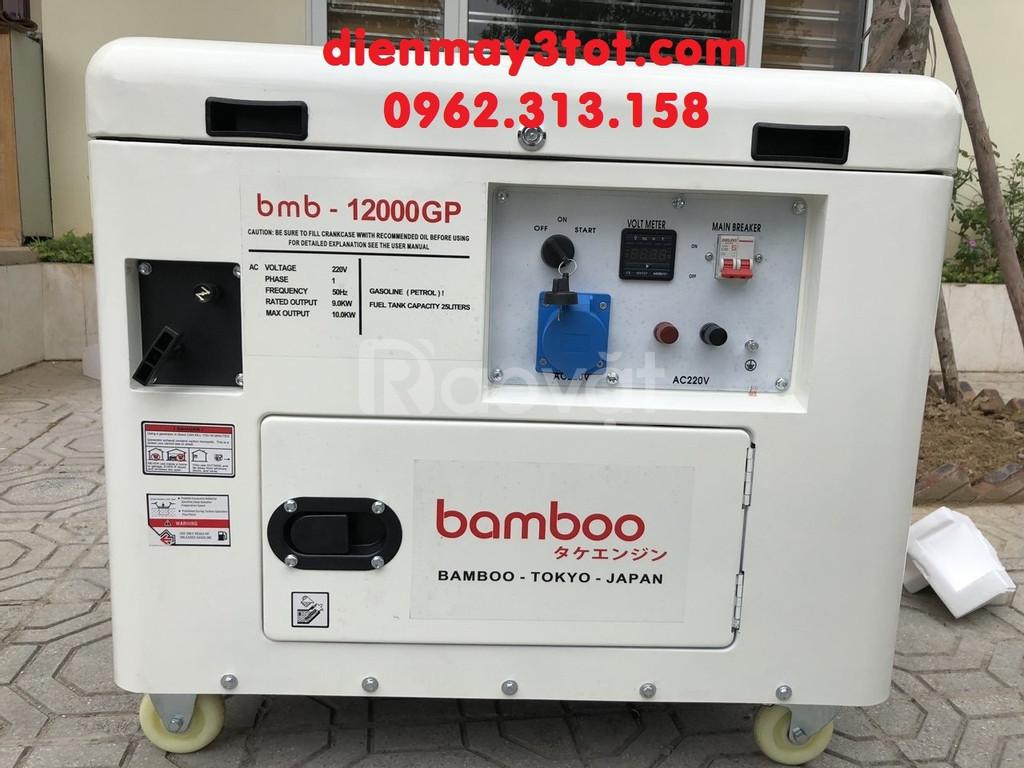 Bán máy phát điện chạy xăng 10kw cách âm công nghệ Bamboo Nhật Bản