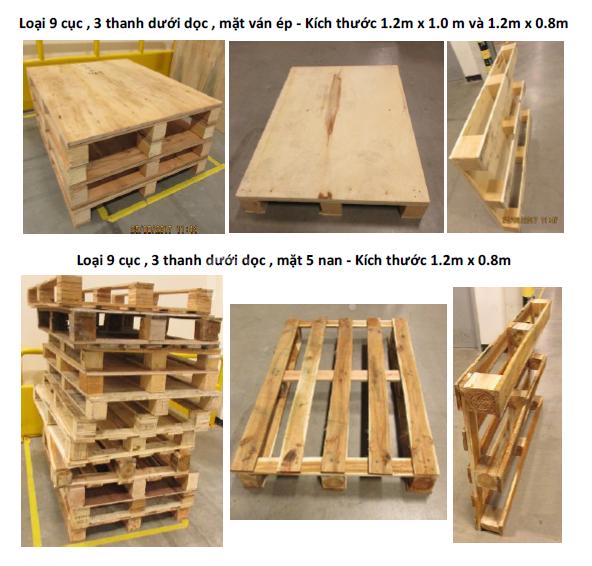Công ty bán Pallet gỗ cũ Hải Phòng, pallet gỗ mới Hải Phòng