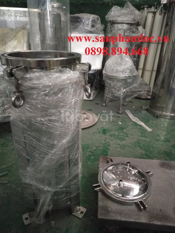 Bình lọc túi size 4 chất liệu inox 304, lọc được lưu lượng max 7m3/h