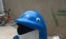 Thùng rác con thú, thùng rác con cá heo nhựa composite