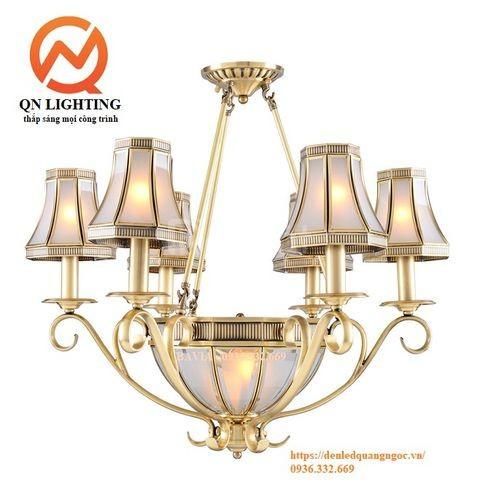 Đèn chùm đồng hiện đại Bavia QN-HT924