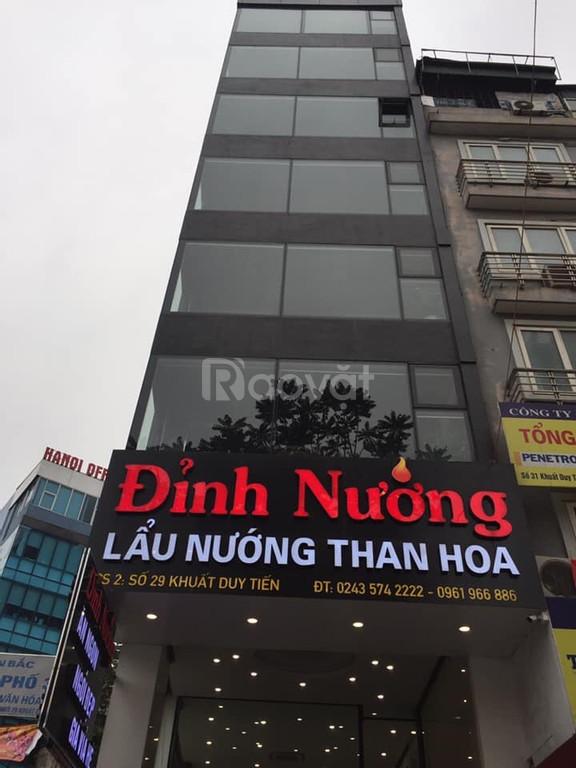 Bán nhà mặt đường Khuất Duy Tiến, mặt tiền 7m,  cho thuê 128 triệu/t