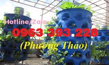 Bán thùng phuy nhựa cũ làm tháp trồng rau