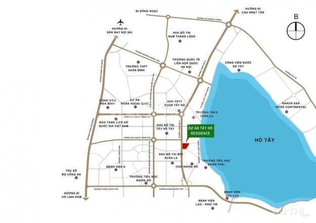 Tây Hồ Residence Võ Chí Công,view Hồ Tây,2.6tỷ/2PN thô,2.8tỷ/2PN full