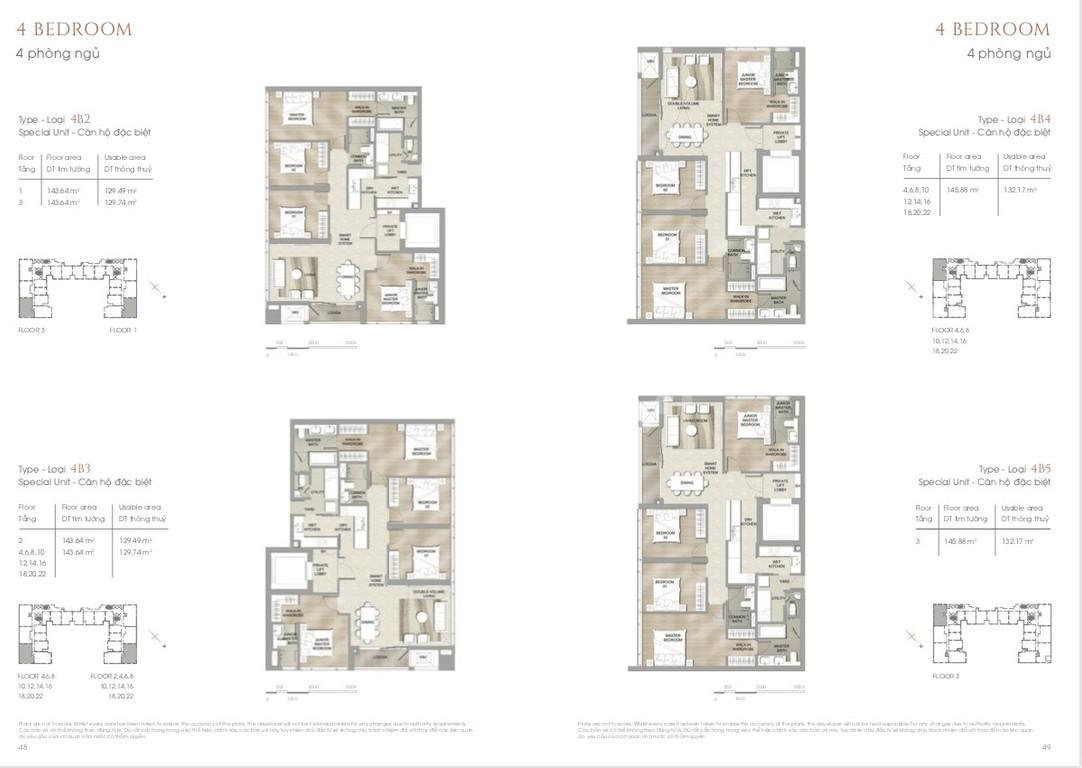 Bán căn hộ The Marq Quận 1 4 phòng ngủ 144m2 nội thất cao cấp