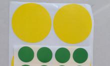 Decal tròn chấm bi - tem mũi tên đánh dấu lỗi may mặc 9x9mm