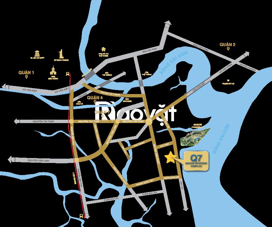 Căn hộ view sông Q7 Saigon Riverside Complex, giá hết sẩy quận 7