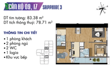 Căn hộ 2 ngủ bàn giao cơ bản tòa S3 Goldmark City Bắc Từ Liêm