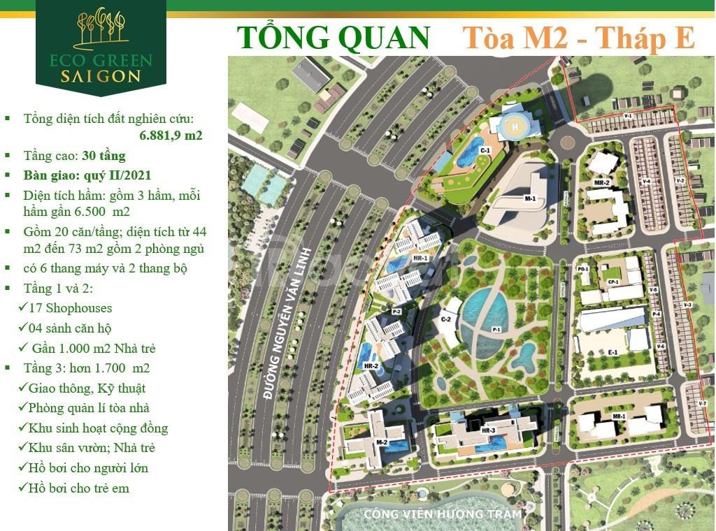 Suất cuối căn góc 2pn/71m chỉ 3,6 tỷ đã VAT giá cđt dự án Eco Green q7