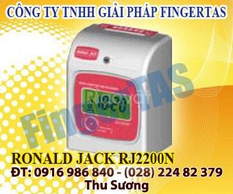 Rj 2200a/n máy chấm công thẻ giấy tặng 300 thẻ giá rẻ