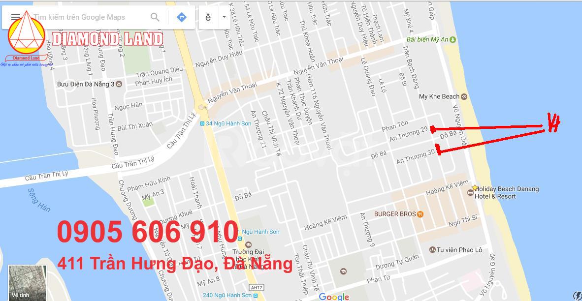 Bán 5 lô đất đường Trần Bạch Đằng phía sau Mường Thanh, Đà Nẵng