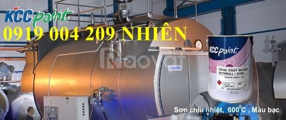 Sơn kcc chịu nhiệt 600 độ QT606 bạc đen cho nồi hơi giá rẻ