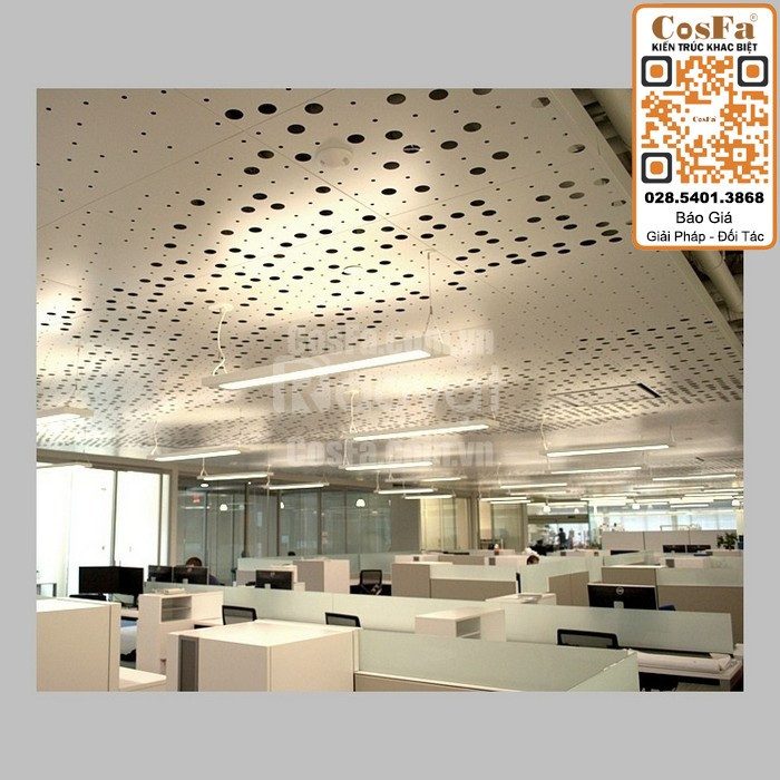 Trần nhôm CosFa - Kiến trúc trần nhôm phi tiêu chuẩn sáng tạo (ảnh 1)