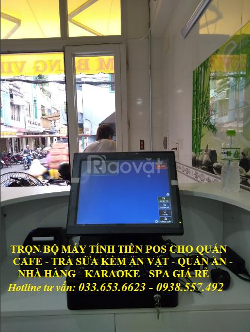 Bánmáy tính tiền pos cho quán cafe, quán ăntại Đồng Nai