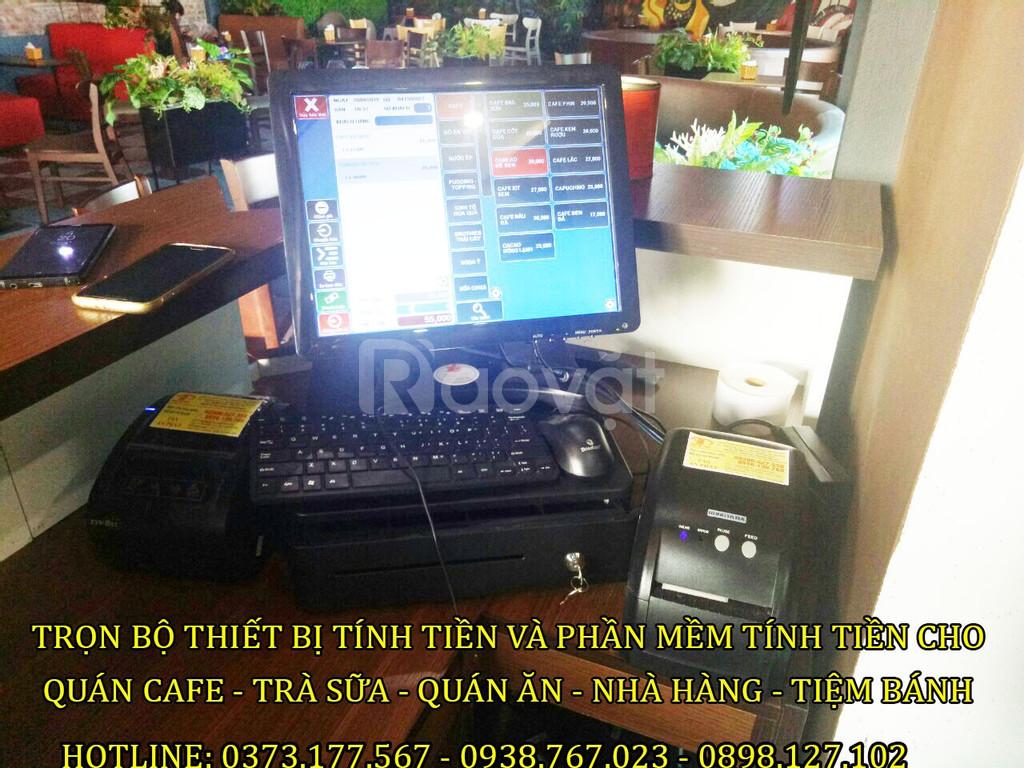 Bán máy tính tiền trọn gói cho quán Trà Sữa – cafe tại Yên Bái
