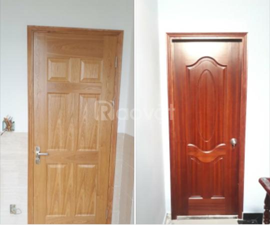 Cửa gỗ công nghiệp cửa gỗ hdf veneer cho công trình xây dựng