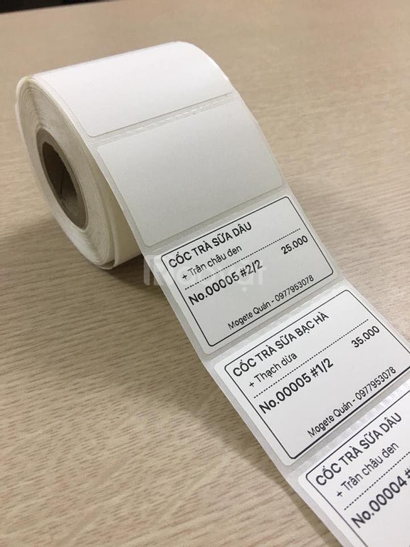Cung cấp giấy in tem trà sữa giá rẻ tại Đà Nẵng