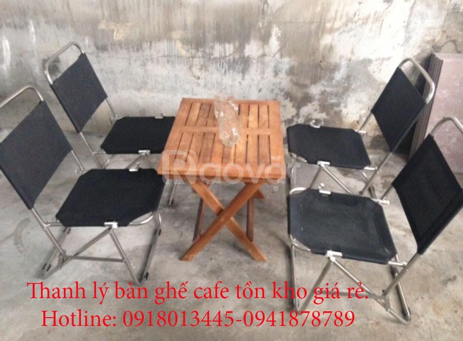 Thanh lý SLL bàn ghế xếp cafe giá rẻ