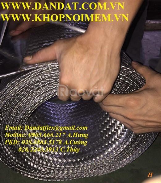 Khớp nối mềm inox, dây đồng bện tiếp địa, khớp nối chống rung