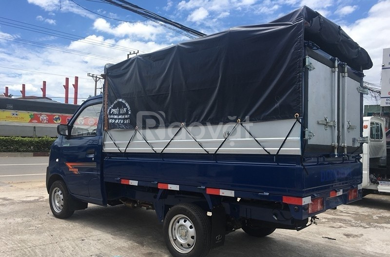 Bán xe tải Dongben 810kg thùng bạt chỉ 20tr mua xe