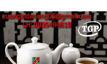 Xưởng in logo theo yêu cầu lên bộ ấm trà, bộ ly thủy tinh tại Đà Nẵng