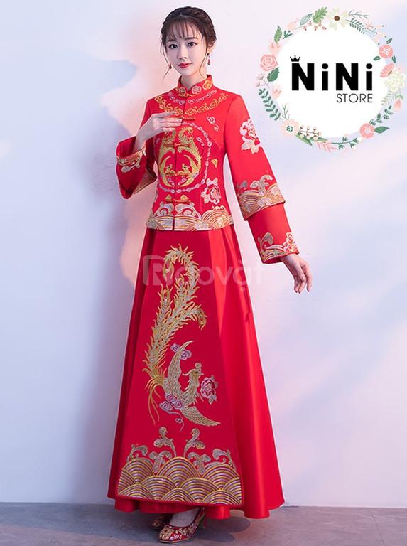 Cho thuê áo cưới khỏa người hoa - Hỷ Phục Trung Quốc