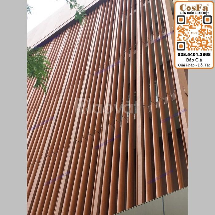 Kích thước lam nhôm giả gỗ quyết định vẻ đẹp của công trình