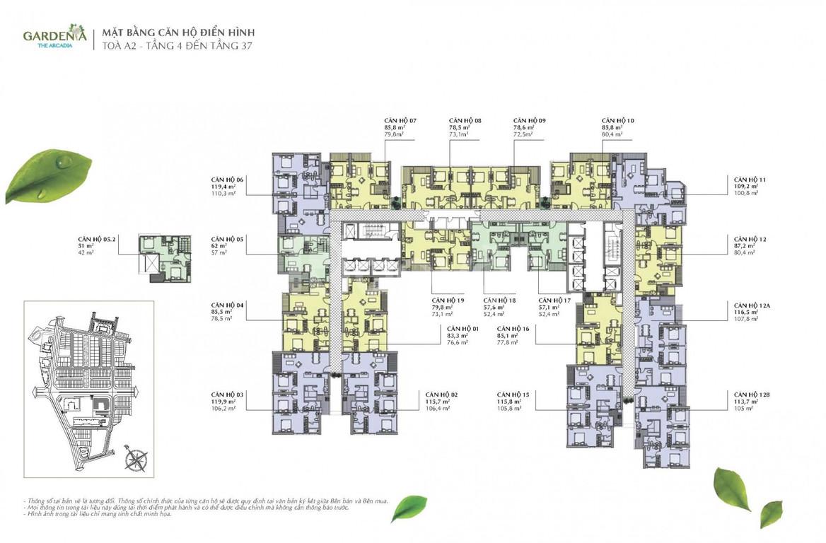 Cần bán căn 1PN tòa A2, tầng cao thoáng mát, full nội thất đẹp