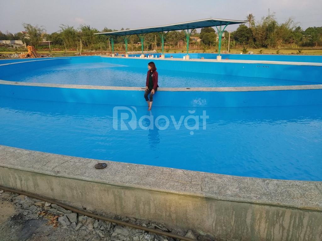 Sơn epoxy Pu ngoài trời Cadin chuyên thi công cho hồ bơi tại Sài Gòn