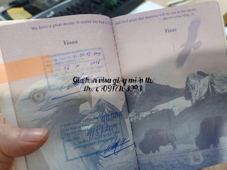 Gia hạn visa cho quốc tịch Mỹ tại Việt Nam