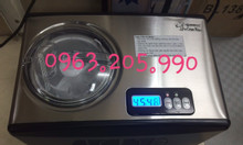 Máy làm kem tự động làm lạnh Komasu thể tích 1,5 lít, máy làm kem