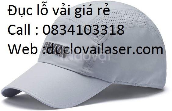 Đục lỗ nón mũ xuất khẩu tại xưởng sx laser Trường Khôi