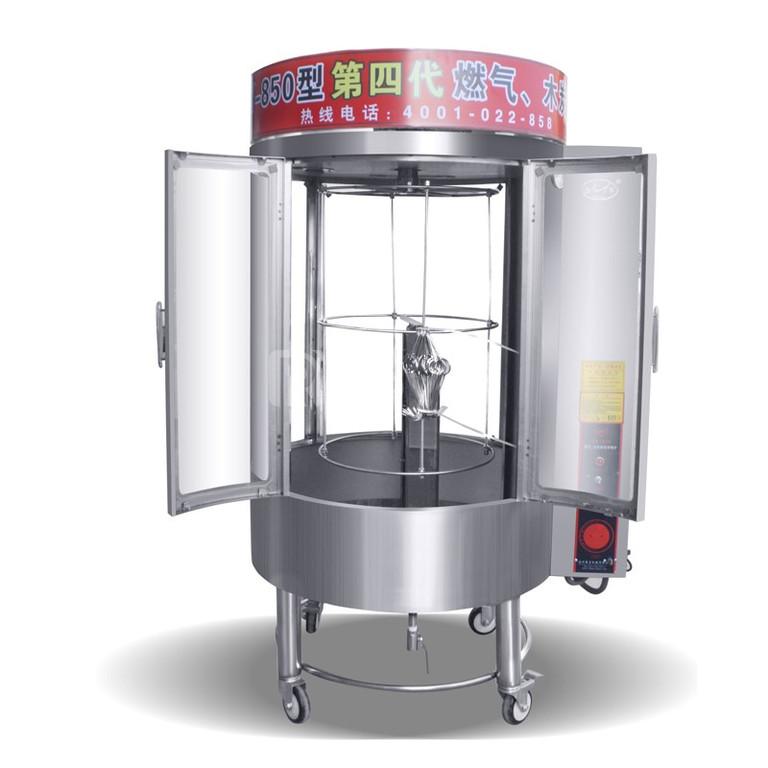 Lò quay gà vịt kính trong dùng gas hoặc dùng điện 1102