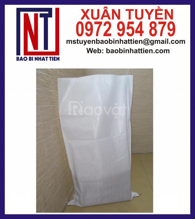 Bao PP dệt không in đựng 25kg bột