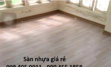 Sàn nhựa vân gỗsàn nhựachống nướcchống trơn giá rẻ