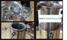Các bộ phận cấu thành bình lọc túi inox lọc chất lỏng