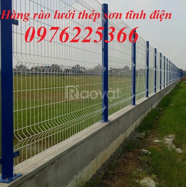 Hàng rào mạ kẽm, hàng rào sơn tĩnh điện, nhận sản xuất và lắp đặt