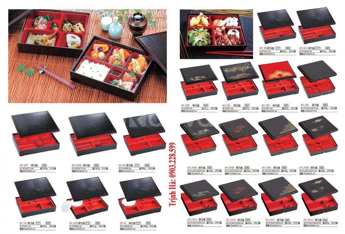 Hộp sushi, hộp cơm bento, khay bento, hộp cơm, khay nhựa, hộp sushi